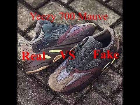 factory authentic 46ba2 351ba Real VS Fake Yeezy Boost 700 Mauve Review - YouTube
