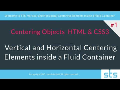 How to Vertically and Horizontally Center Elements with CSS3 | #1