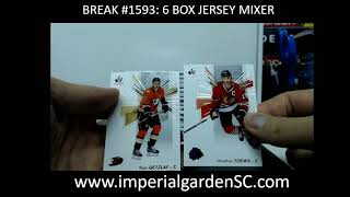 Break #1593: 6 BOX JERSEY  MIXER (LEAF BEST OF SP Auth, ARTIFACTS, ICE,  GRANDUER)