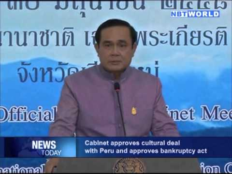 Cabinet approves cultural deal with Peru and approves bankruptcy act
