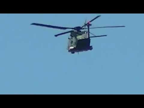Australian Army MRH 90 Flying Over Grovedale