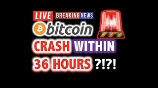 BITCOIN MIGHT CRASH Within 36 Hours?! 💥 LIVE Crypto Analysis TA & BTC Cryptocurrency Price Dump News