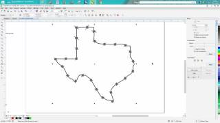 Corel Draw Tips & Tricks Blend Tool Barb Wire around Texas or any shape part 3