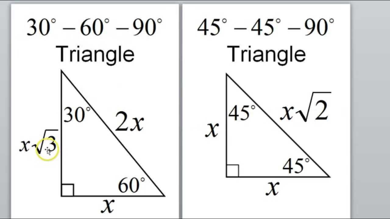 worksheet. Special Right Triangles Worksheet. Worksheet