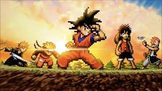 GOKU vs NARUTO, LUFFY, ICHIGO, & NATSU Animation! SHOUNEN STRIKE