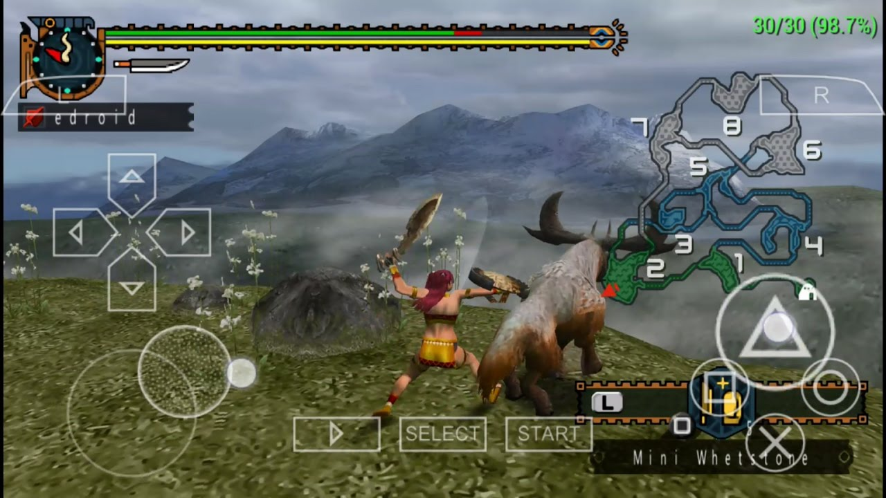 psp emulator monster hunter freedom unite