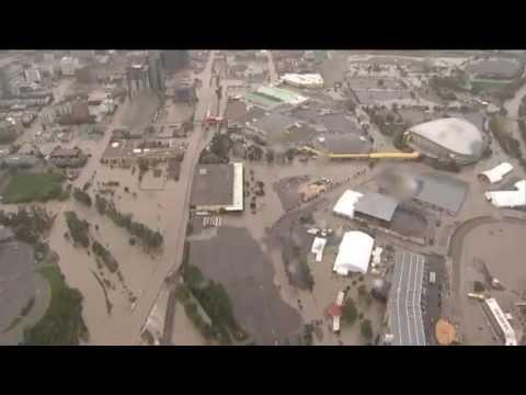 Raw Aerial Footage of Calgary, Alberta Flooding - June 21, 2013