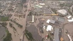 Raw Aerial Footage of Calgary, Alberta Flooding - June 21, 2013