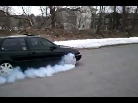 Best Front Wheel Drive Burnout Amazing Golf Gti