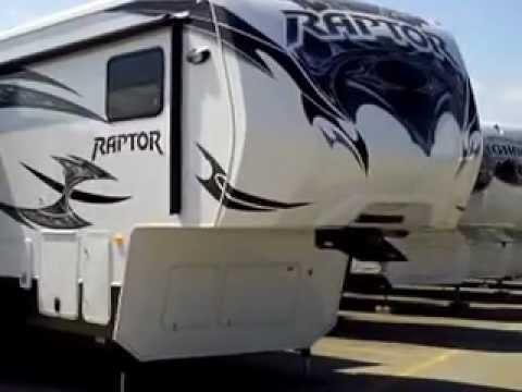2013 Raptor 410LEV fifth wheel toy hauler at Bullyan RV in Duluth, MN
