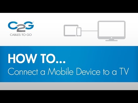 How To Connect a Mobile Device to a TV