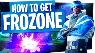 "How to get the New Blue Striker aka ""Frozone"" Skin - Fortnite PS4 Exclusive Skin"