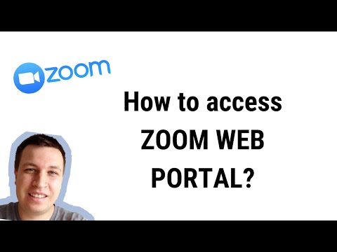 How To ACCESS ZOOM WEB PORTAL?