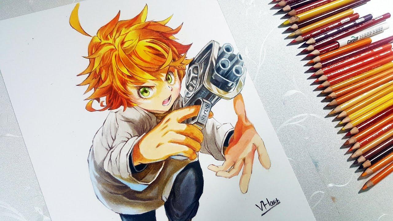Drawing Emma The Promised Neverland エマ 約束のネバーランド Vh Art