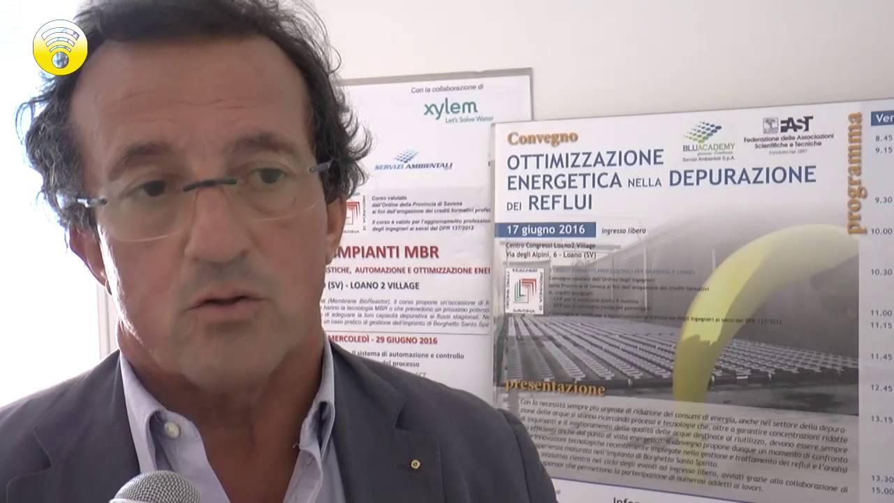 """""""Consumare meno energia nella depurazione dei reflui"""". Il convegno si terrà venerdì a Loano 2 Village: video #2"""