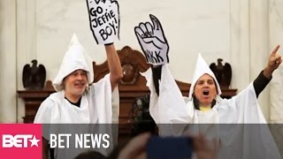 Protesters Dressed as KKK Members Kicked Out of Jeff Sessions
