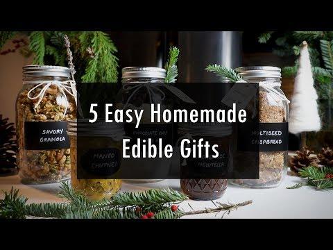5 Easy Homemade Edible Gifts