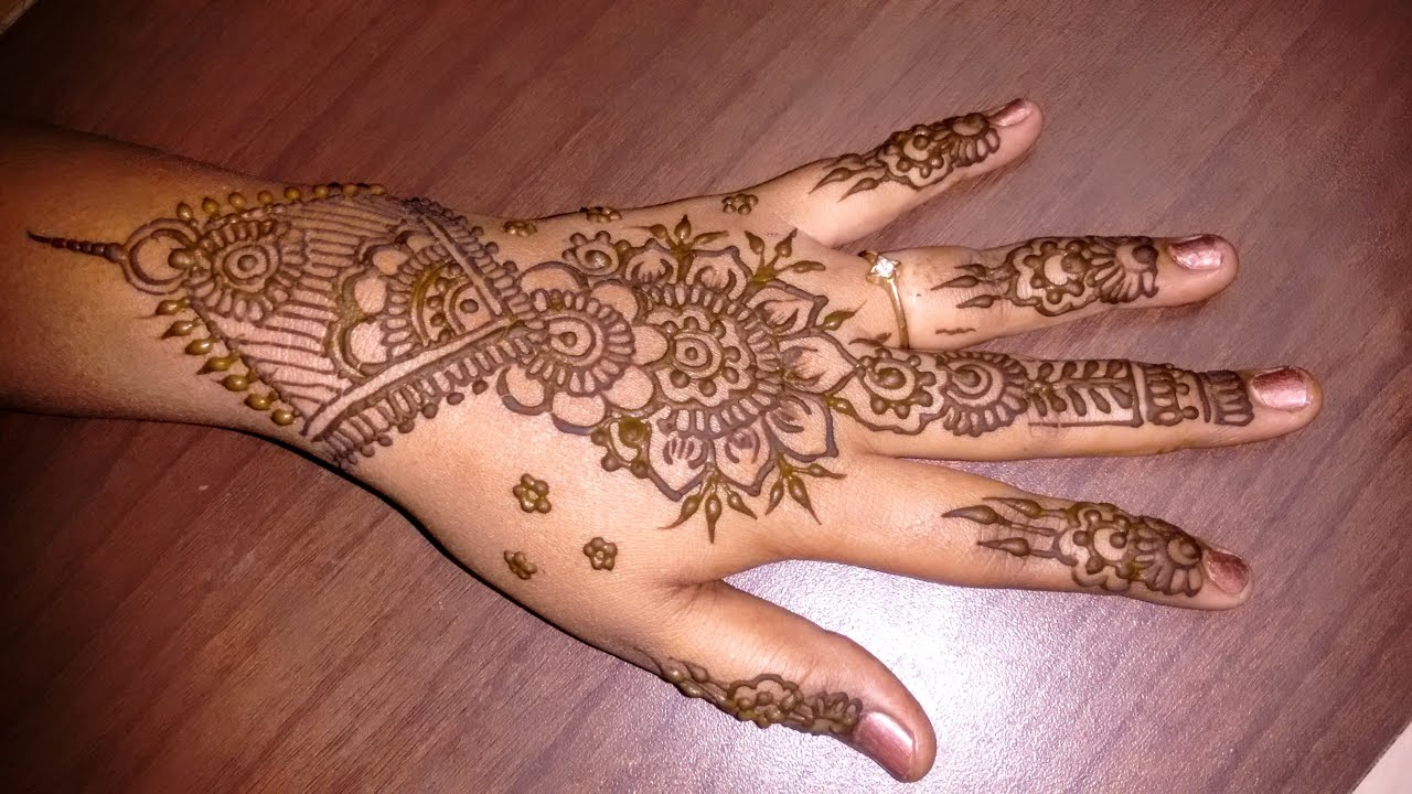 Latest mehndi designs 2016 2017 top 47 mehndi styles - Simple Mehndi Designs For Hands Latest 2016 Beautiful Easy Henna Designs Tutorials Youtube