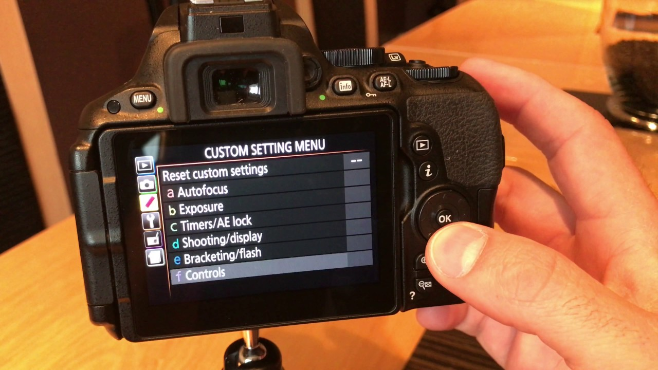 How to change Nikon D5500 Focus Points using Touchscreen