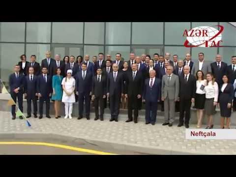 Prezident İlham Əliyev Neftçala Sənaye Məhəlləsinin açılışında iştirak edib