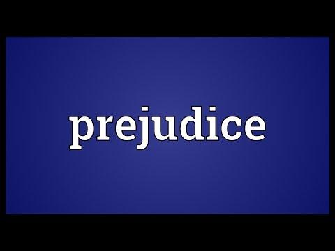 Prejudice Meaning