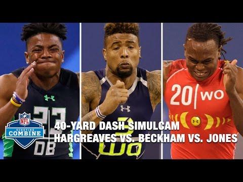 Vernon Hargreaves vs. Odell Beckham vs. Julio Jones 40-Yard Dash Simulcam Race | 2016 NFL Combine
