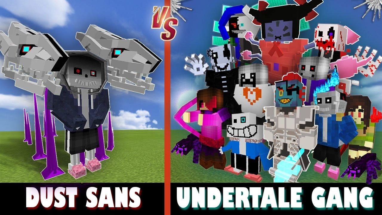 Dust Sans (H2V) vs. Undertale Gang | Minecraft (ORIGINAL GANG IS BACC!)