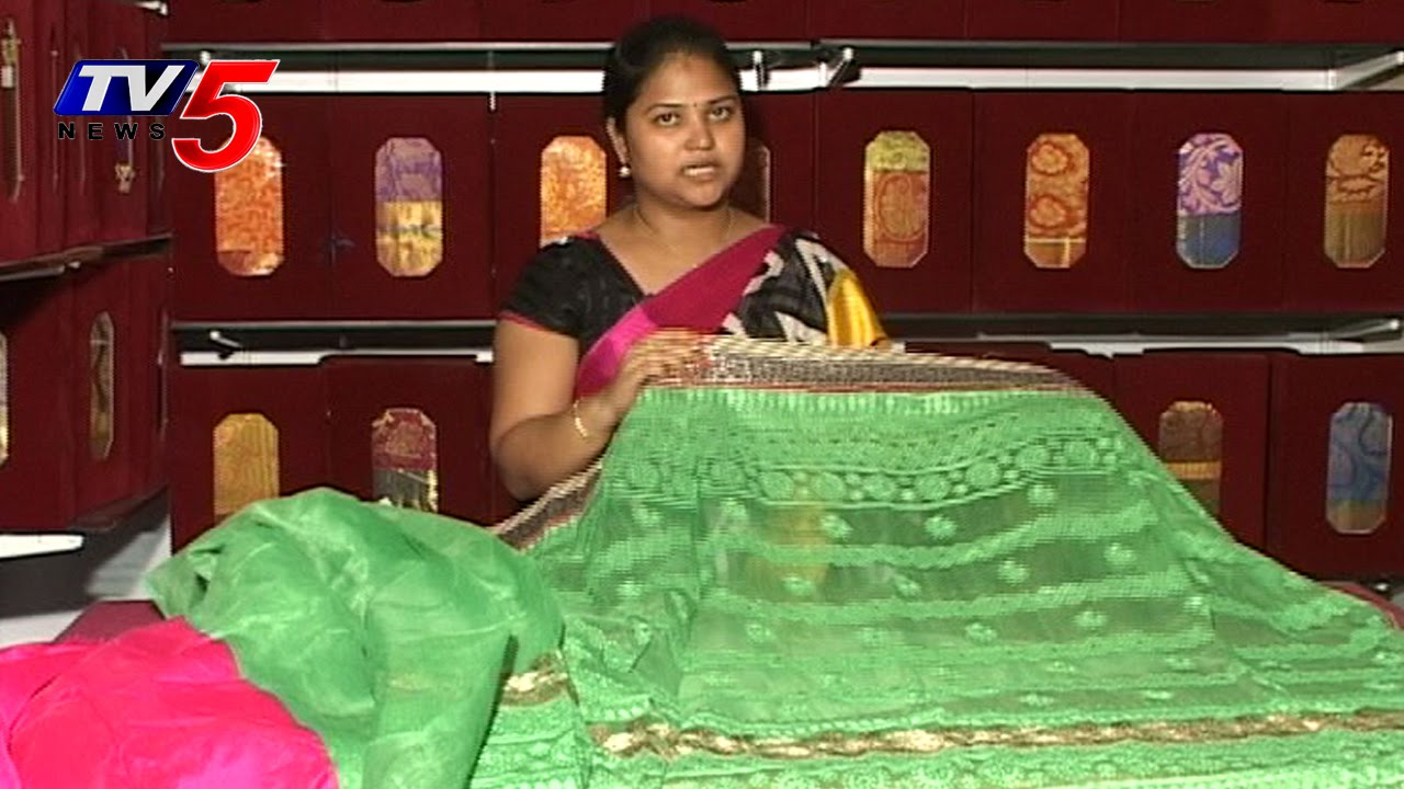 pista green color zoot silk saree tv5 news youtube