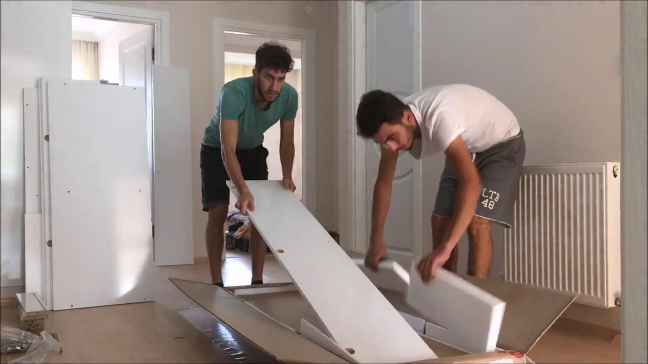Öğrenci evine yeni mobilyalar... Demonte gardırop kurulumu nasıl yapılır ?