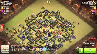 Clash of clans | TH10 VS TH11 WAR ATTACK | GOWIWI | HOW TO GET STARS ON TH11 WAR BASE