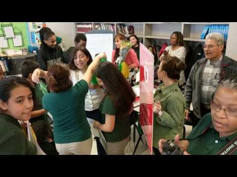 Karen Ramirez SURPRISED with Golden Apple Award at Richard J. Daley Academy