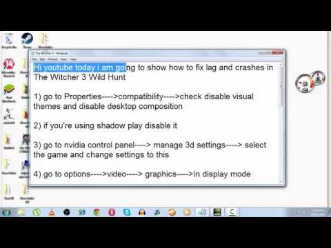 How to fix graphic lags low fps in The Witcher 3 Wild Hunt for pc ...