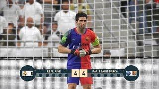 REAL JUVE vs PARIS SAINT BARCA I PES 2019 Penalty Shootout