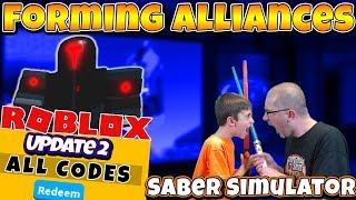 Making Alliances in Roblox Saber Simulator ⚔️ Update 2 Boss Battles and Codes