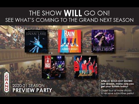 The Grand's 20/21 Season Announcement
