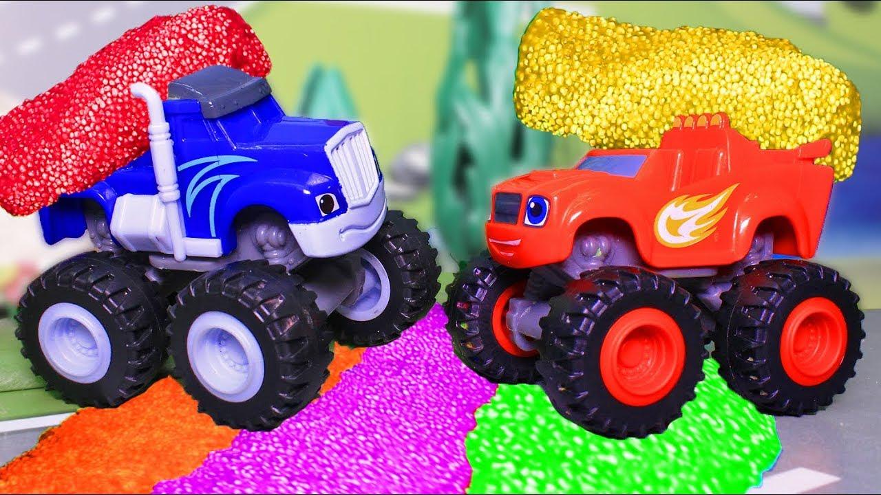 Мультики для детей с игрушками Вспыш и чудо машинки ...