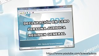 DECLARACION EN CERO - REGIMEN GENERAL - SUNAT PDT PARTE I - NOVIEMBRE 2014