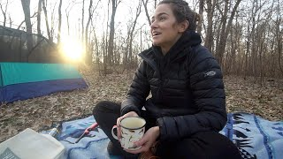Solo Camping - Overฑight in the Woods Alone