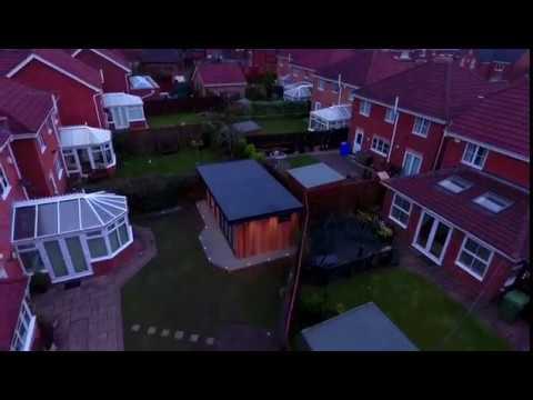 Gardenroom & Hottub project in Cramlington, northumberland