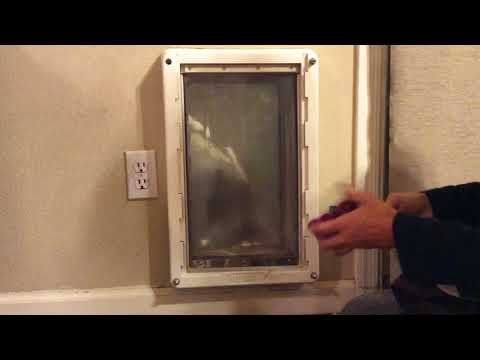 ASMR Cleaning Dusting Wiping Scrubbing Spraying Dirty Doggie Door (no Tapping No Talking)