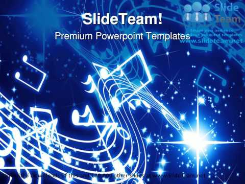 Musical Notes Background PowerPoint Templates Themes And Backgrounds ppt slide designs