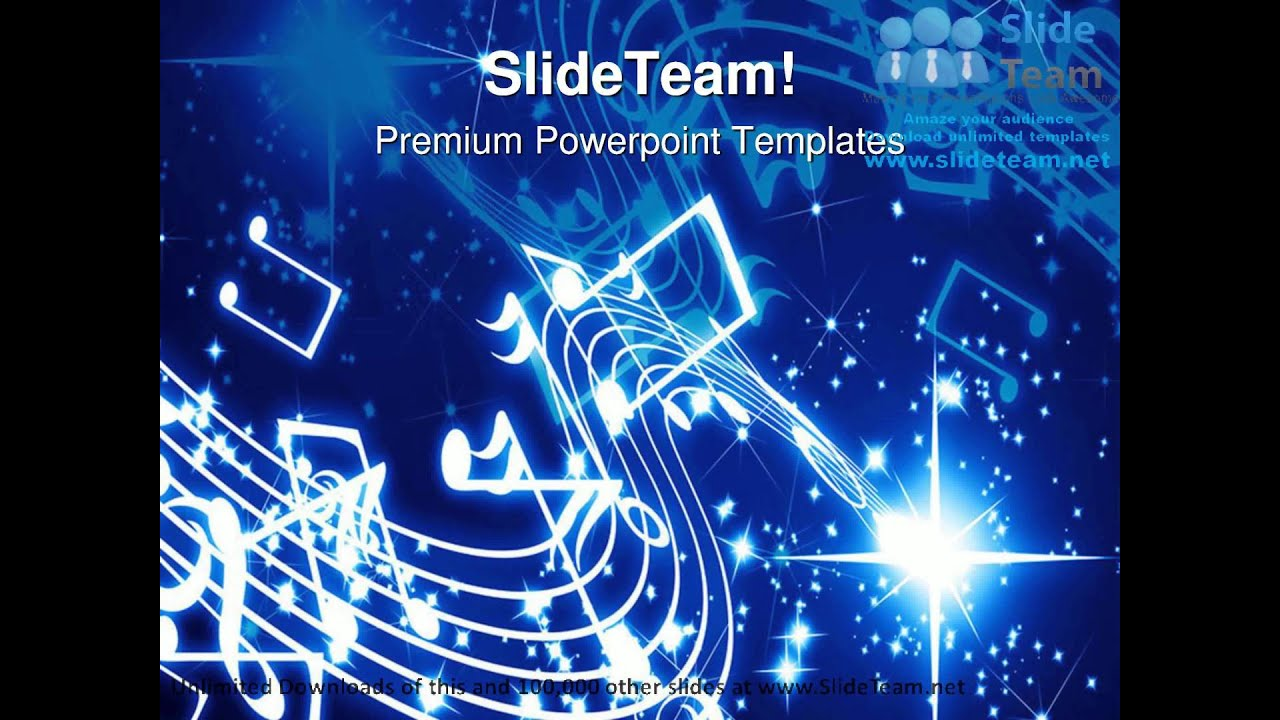 musical notes background powerpoint templates themes and, Modern powerpoint