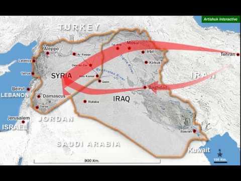 Iran Path to Mediterranean Sea