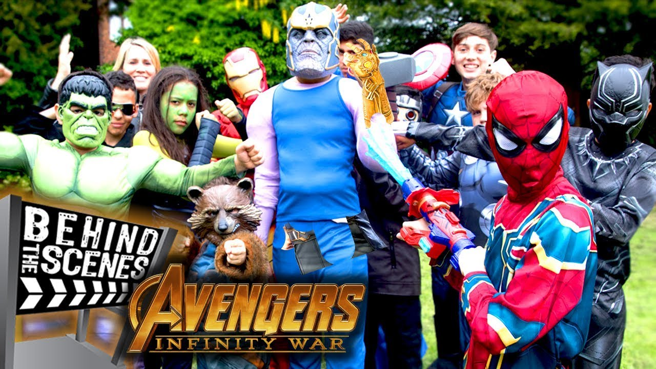 Avengers Infinity War Kids Parody! - Behind The Scenes