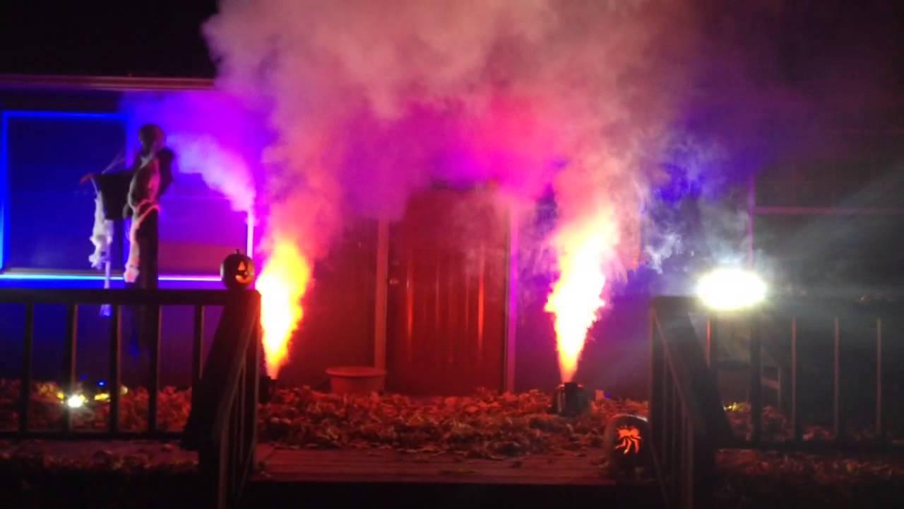 halloween lighting. halloween lighting with fog