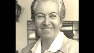 Gabriela Mistral. Poemas recitados por actrices chilenas. Disco - Lado 1.