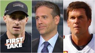 Max Kellerman compares Drew Brees' early struggles to his Tom Brady 'Cliff Theory' | First Take