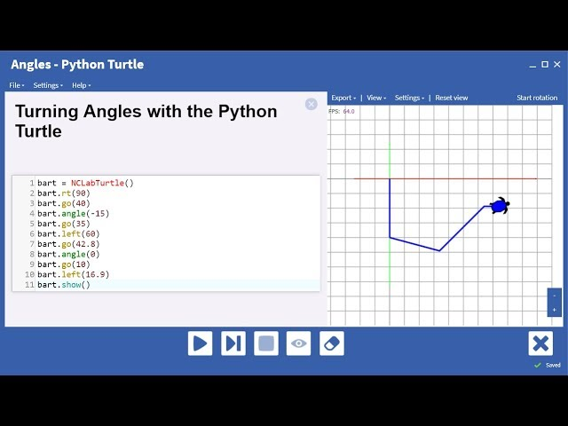 Turn the Turtle Using Left Right or Angle Commands