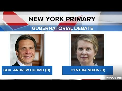 Cynthia Nixon and Gov. Cuomo expected to face off in N.Y. gubernatorial debate