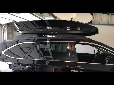 thule motion xt xl roof box 2017 subaru outback youtube. Black Bedroom Furniture Sets. Home Design Ideas